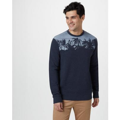 Tentree Men's Palm Classic Crew - Navy