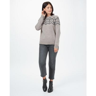 Tentree Women's Highline Wool Turtleneck Sweater - Desert Taupe Heather