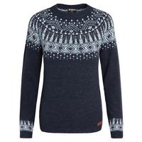 Women's Amdo Crew Sweater - Rathee Blue
