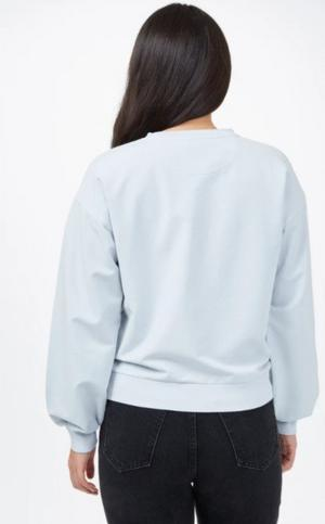 Women's French Terry Balloon Sleeve Crew - Blue