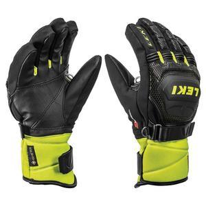 World Cup Race Coach Flex S GTX Ski Glove - Black Ice / Lemon