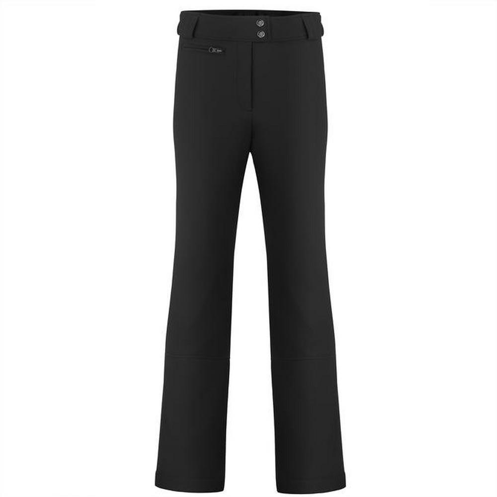 Poivre Blanc Women's Softshell Ski Pant Short Leg - Black