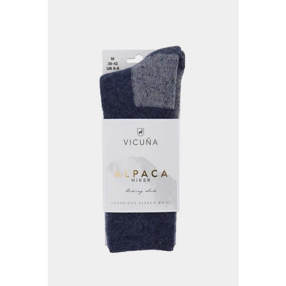 Vicuna Unisex Vicuna Alpaca Hiker Sock - Blue