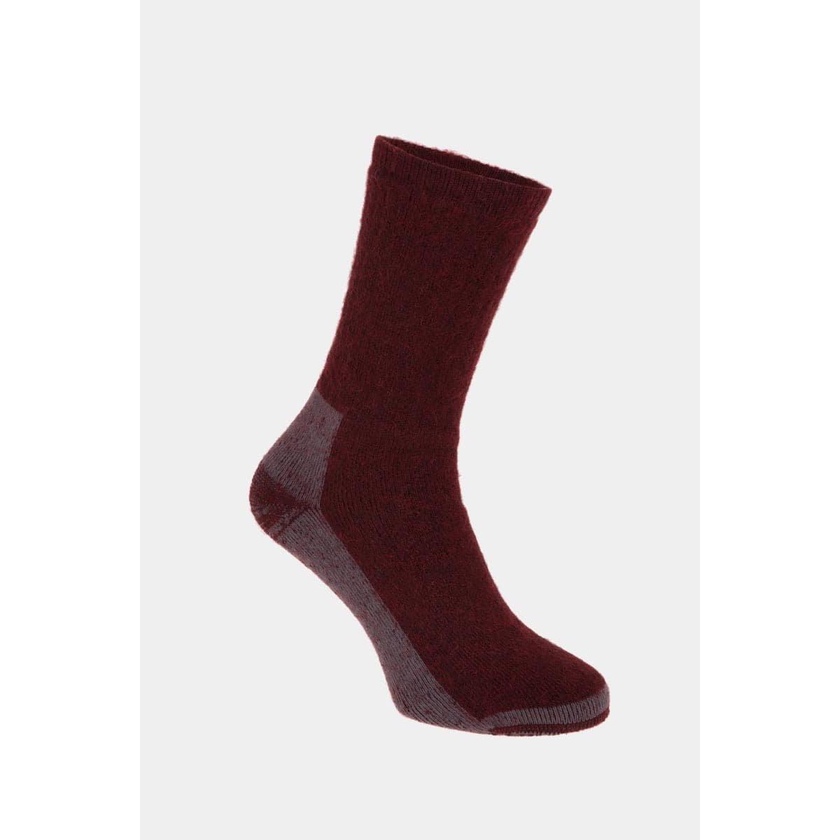 Vicuna Unisex Vicuna Alpaca Hiker Sock - Red