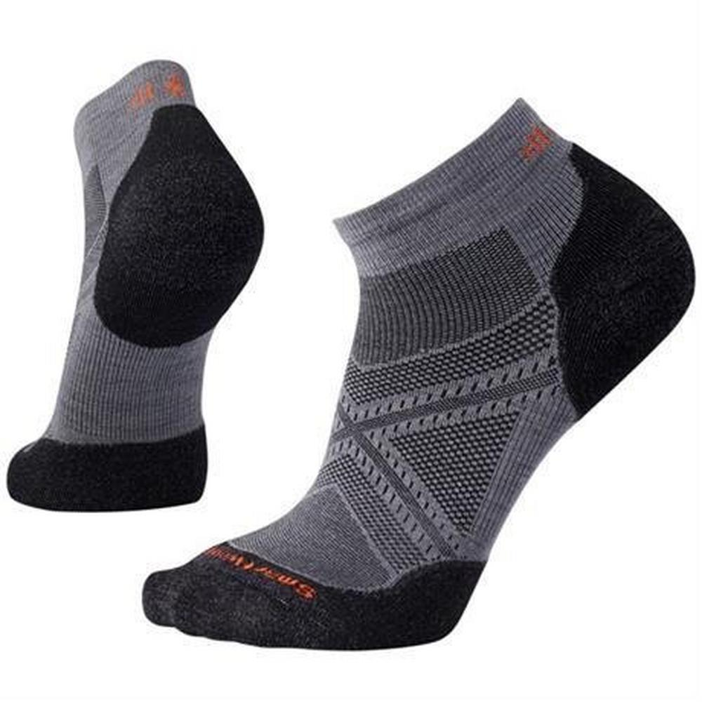 Smartwool Running Socks Men's Run Light Elite Low Cut Graphite