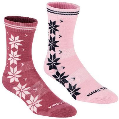 Kari Traa Women's Vinst Wool Sock 2 Pack - Lilac
