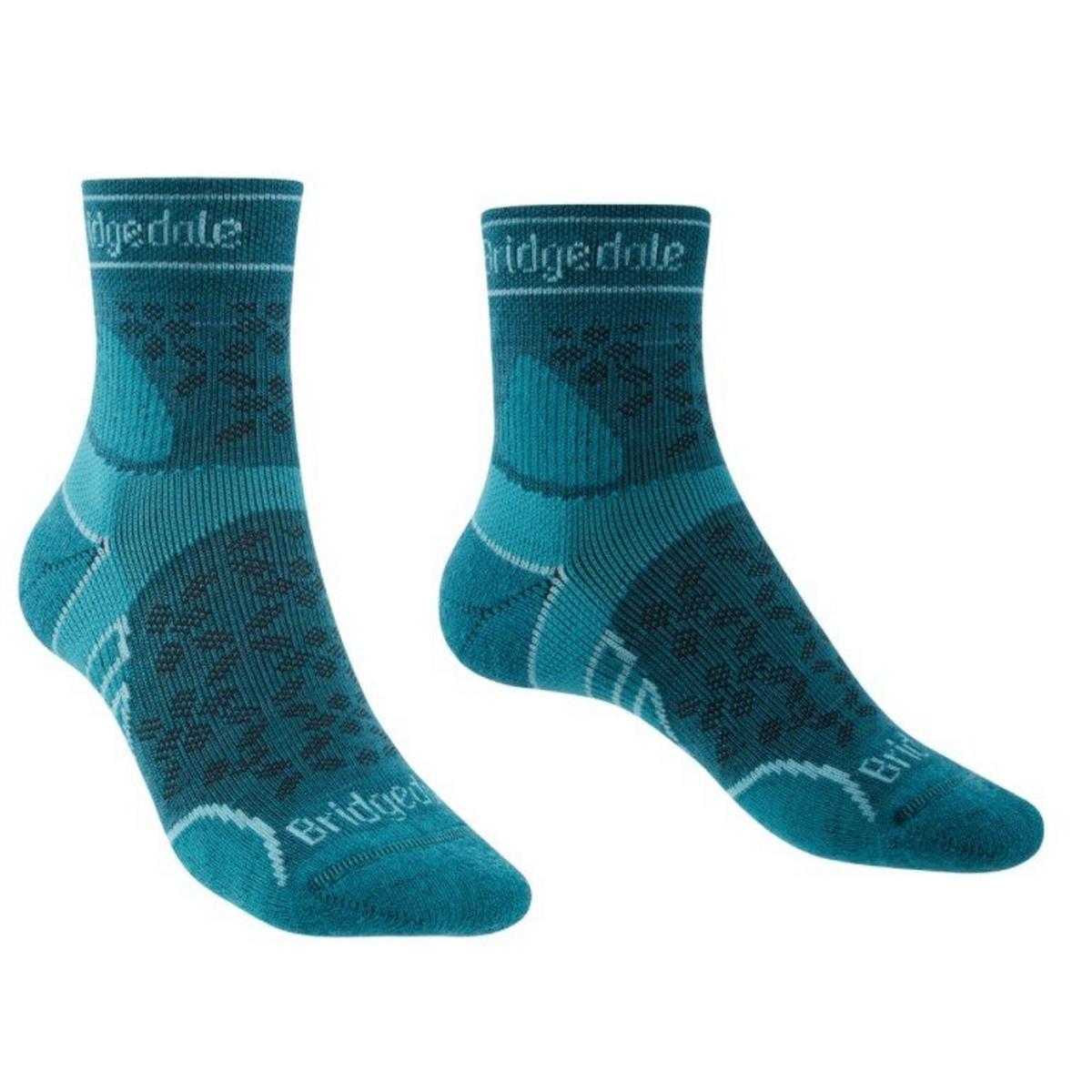 Bridgedale Women's Merino Sport LW T2 Crew Sock - Blue