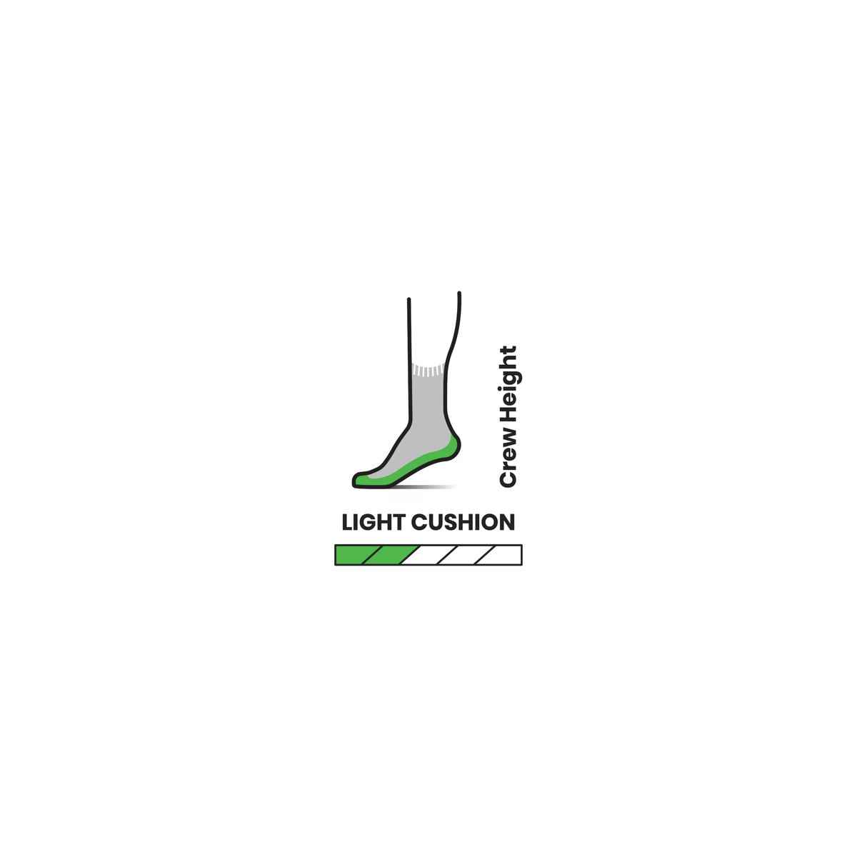 Smartwool Men's Hike Classic Edition Light Cushion Crew - Light Grey