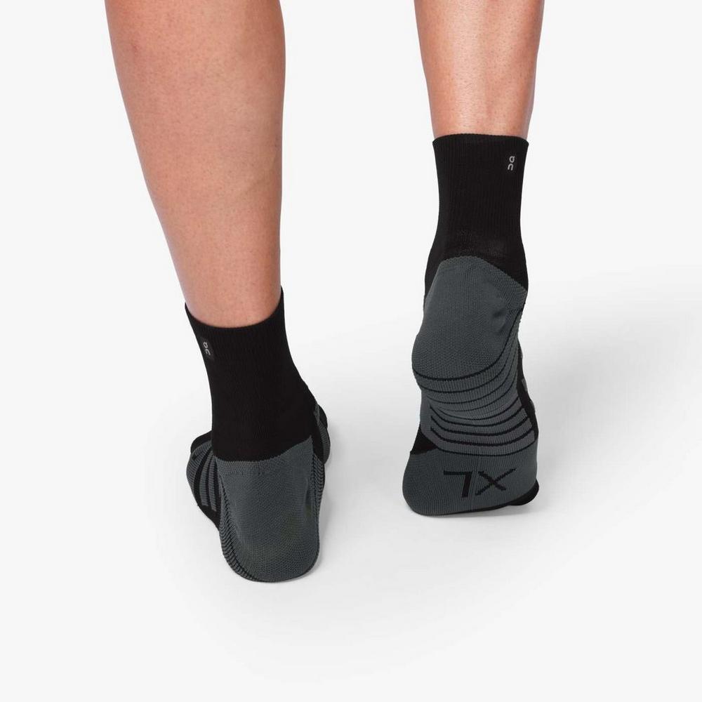 On Men's Mid Sock - Black