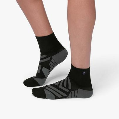 On Women's Mid Sock - Black