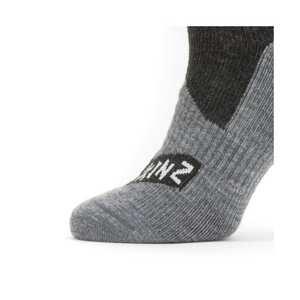 U Sealskinz Waterproof All Weather Mid Sock - Black