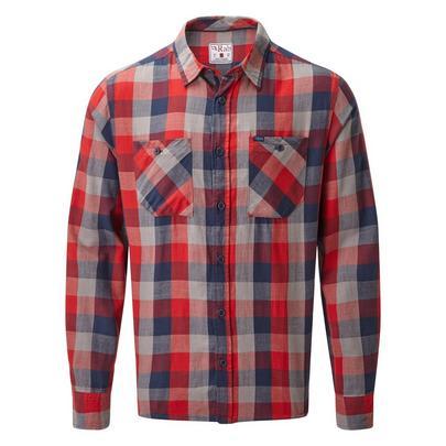 Rab Men's Dusker LS Shirt - Red