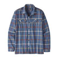 Men's Long Sleeved Organic Cotton Flannel Shirt - Brisk Dolomite Blue