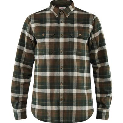 Fjallraven Men's Singi Heavy Flannel Shirt - Green / Deep Forest