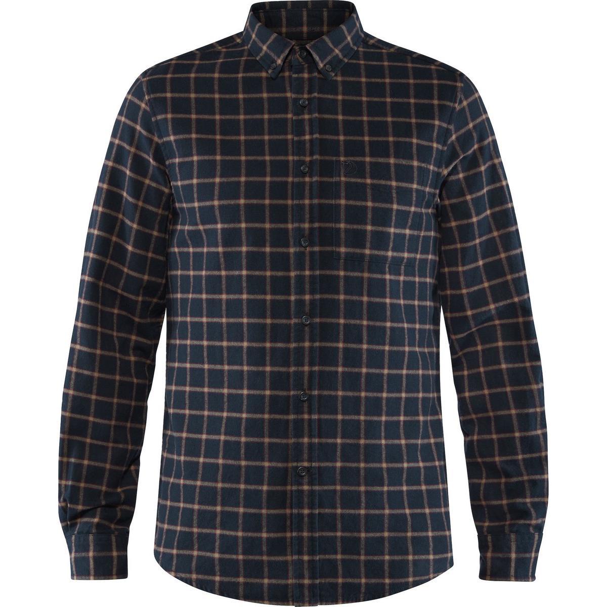 Fjallraven Men's Ovik Flannel Shirt - Dark Navy