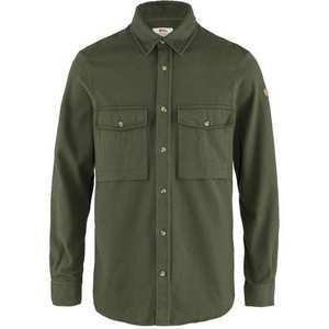 Men's Ovik Twill Shirt - Deep Forest / Plain