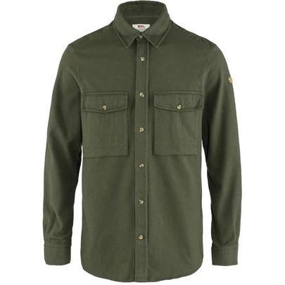 Fjallraven Men's Ovik Twill Shirt - Deep Forest / Plain