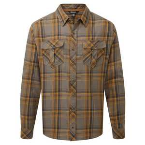 Men's Ramoche Shirt - Henna Brown / Plaid