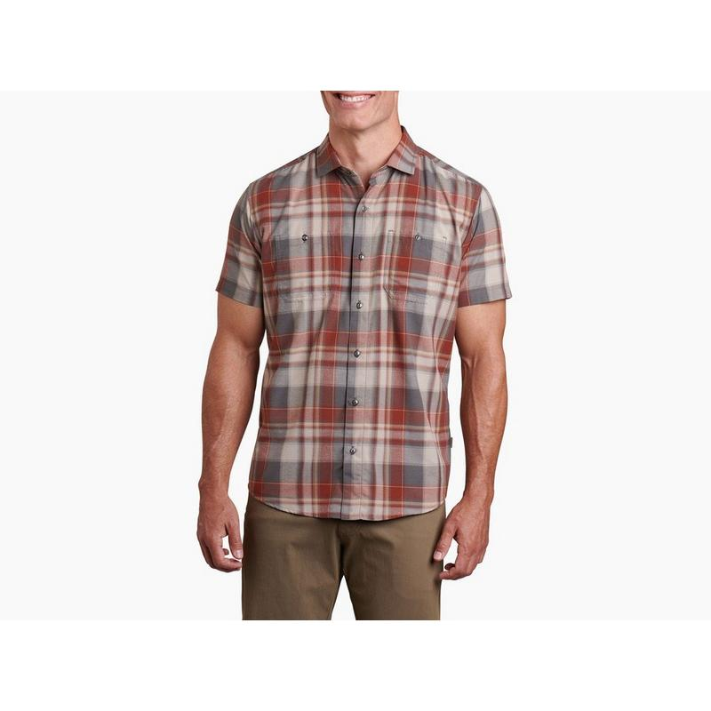 Men's Kuhl Styk Short Sleeved Shirt - Red