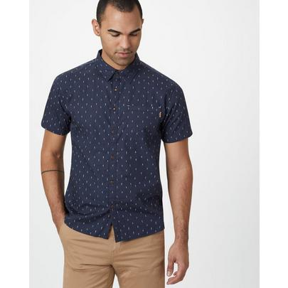 Tentree Men's Cotton SS Button Up - Navy