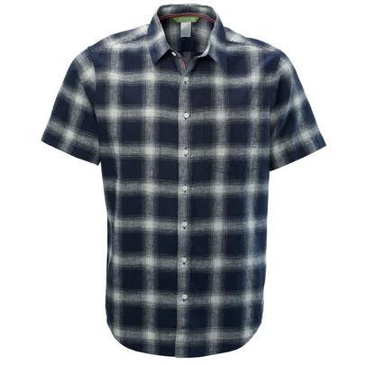 Kathmandu Men's Flaxton Short Sleeved Shirt - Navy