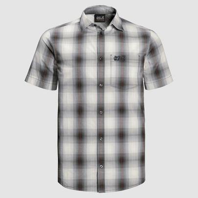 Jack Wolfskin Men's Hot Chilli Check Shirt - Grey
