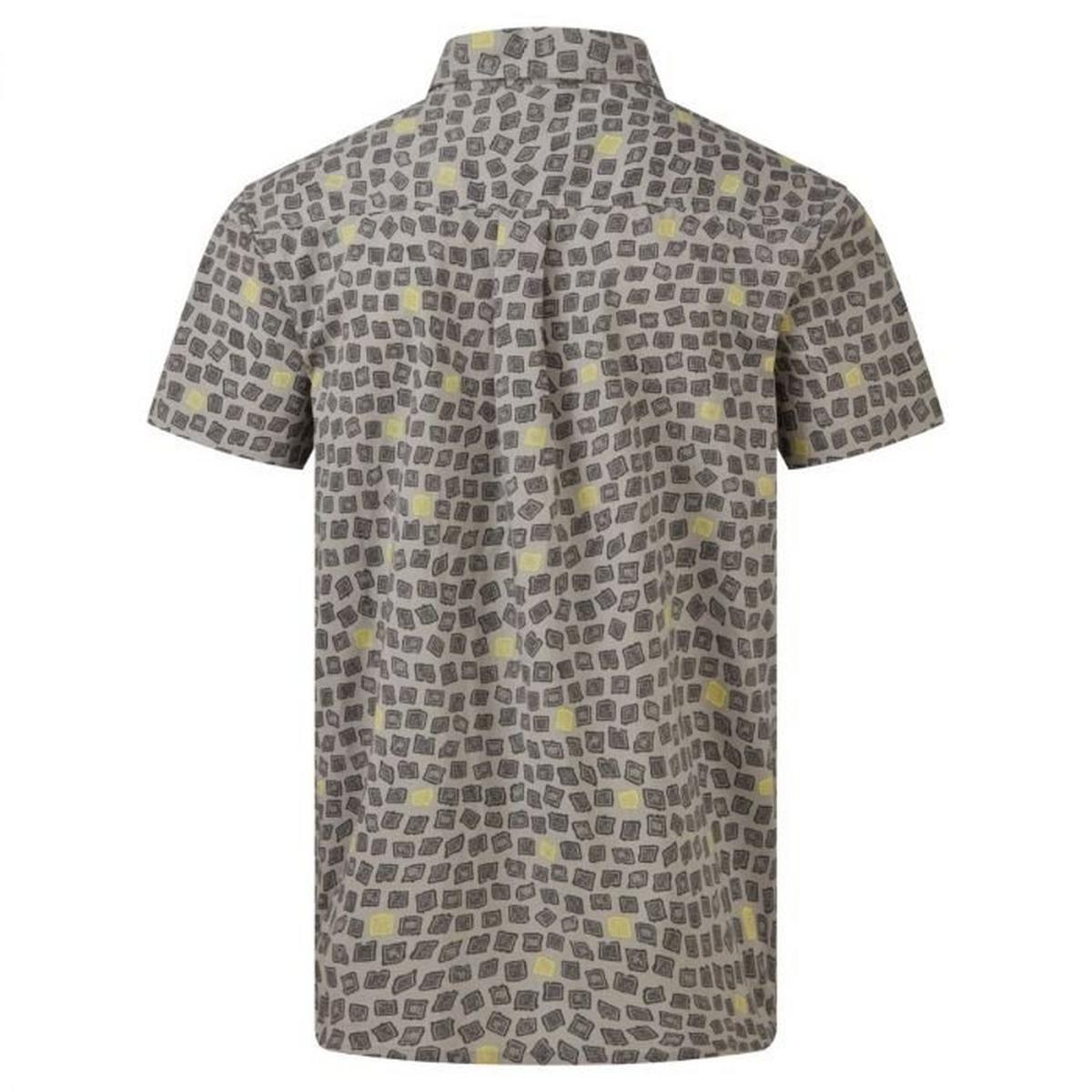 Sherpa Adventure Men's Doori Print SS Shirt - Grey