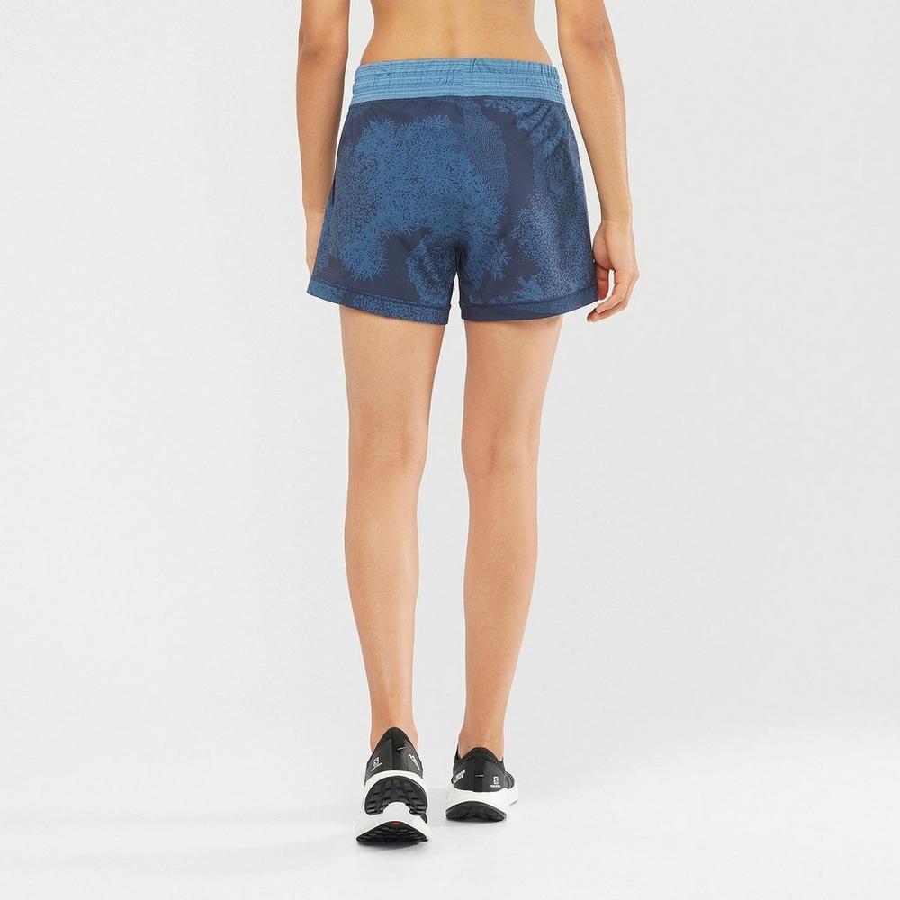 Salomon Women's Comet Shorts - Blue