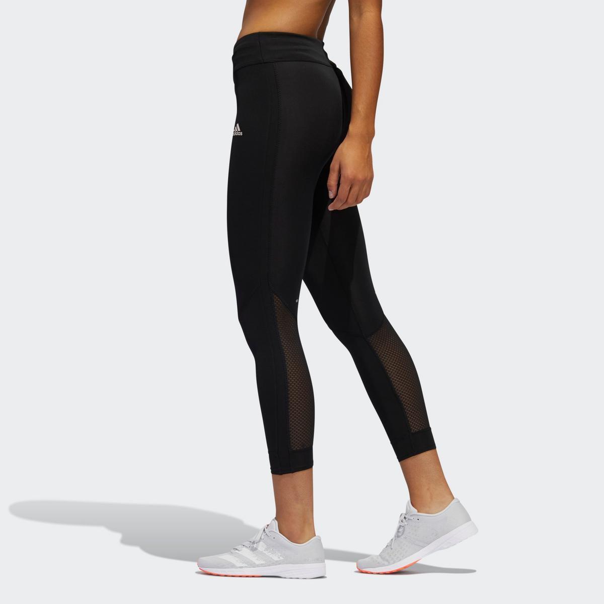 Adidas Women's Own The Run 3 Stripes Fast Leggings - Black