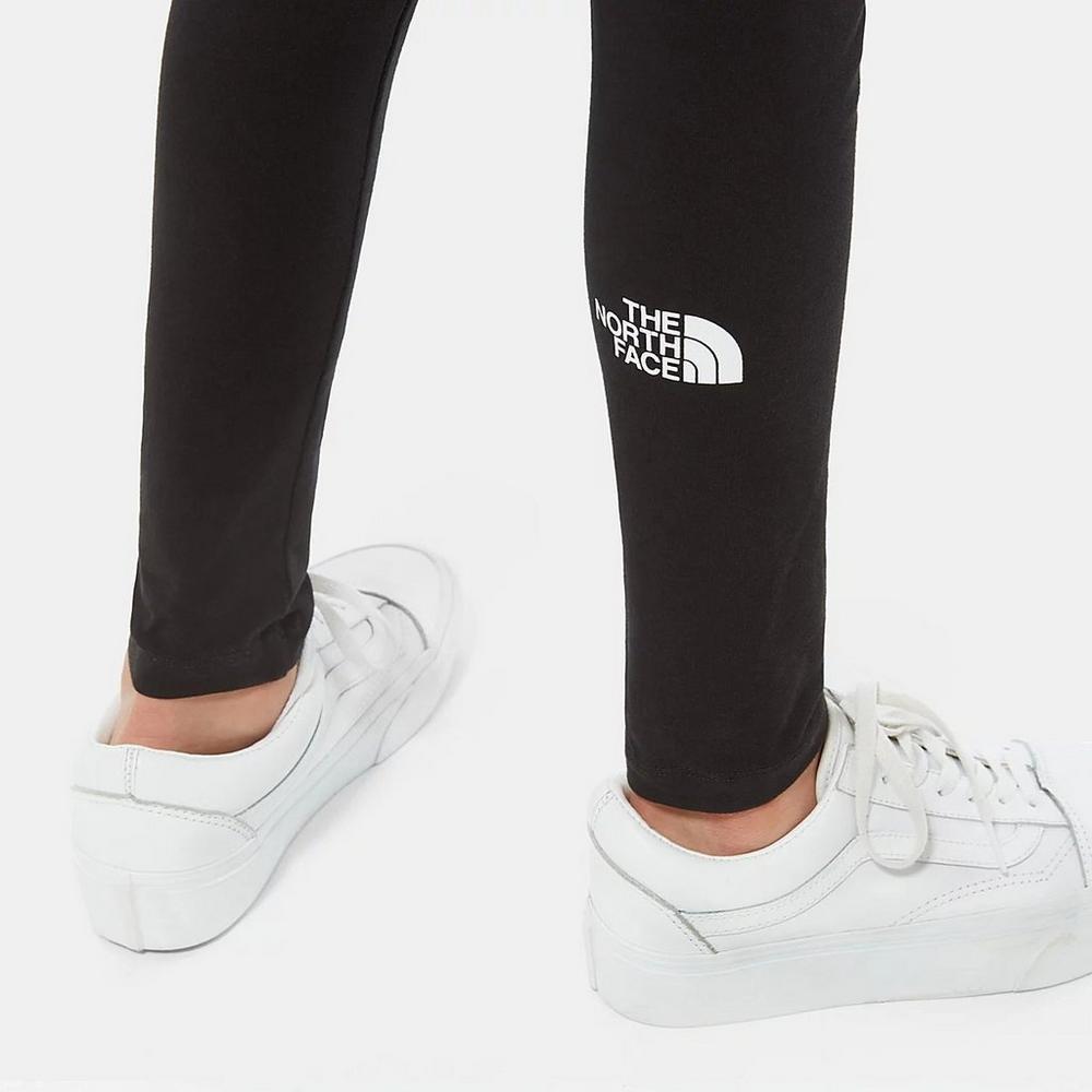 The North Face Kid's Big Logo Leggings - Black