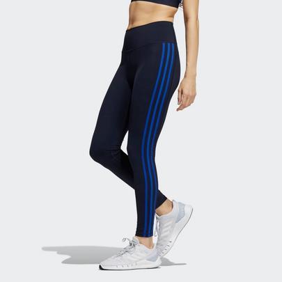 Adidas Women's Believe This 3-Stripes Legging - Blue