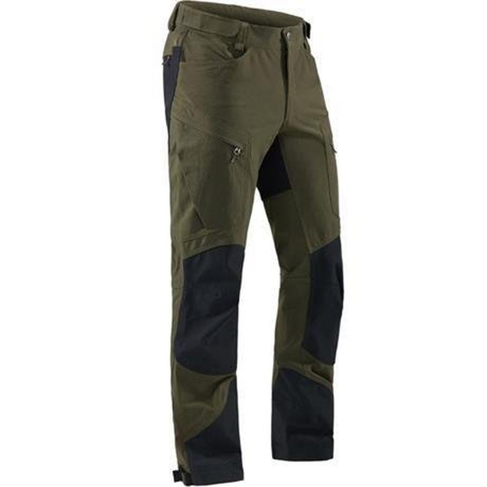 Haglofs Pant Men's Rugged Mountain SHORT Leg Trousers Deep Woods/Black