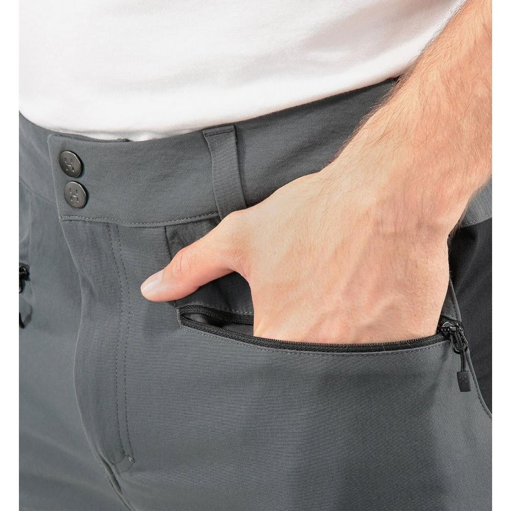 Haglofs Pants Men's Rugged Flex LONG Leg Trousers Magnetite/Black