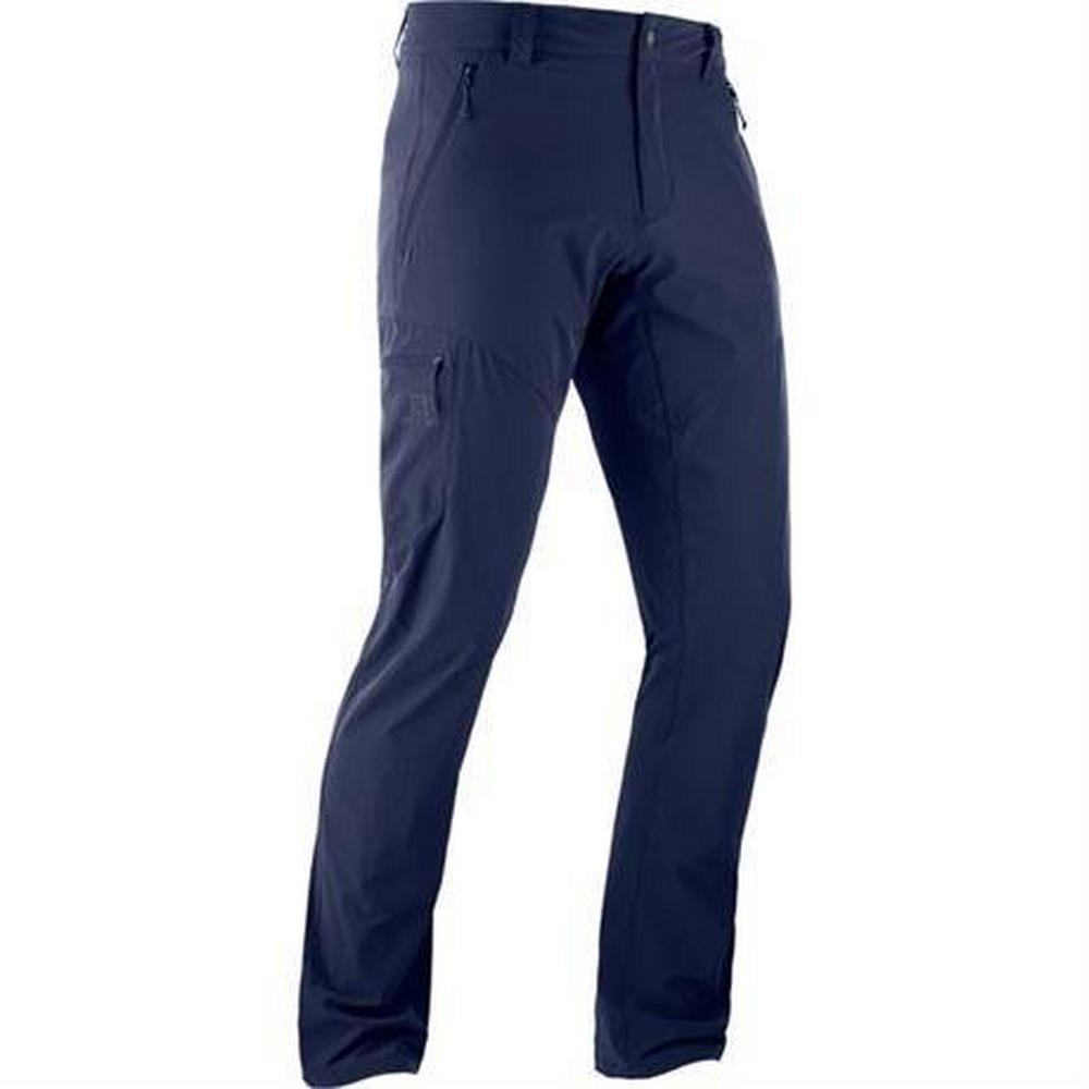 Salomon Pants Men's Wayfarer SHORT Leg Trousers Night Sky