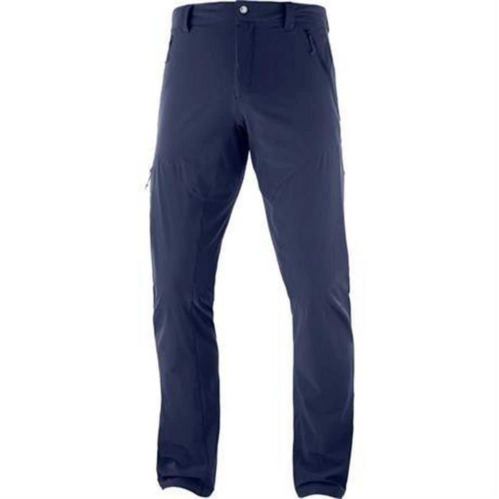Salomon Pants Men's Wayfarer REGULAR Leg Trousers Night Sky