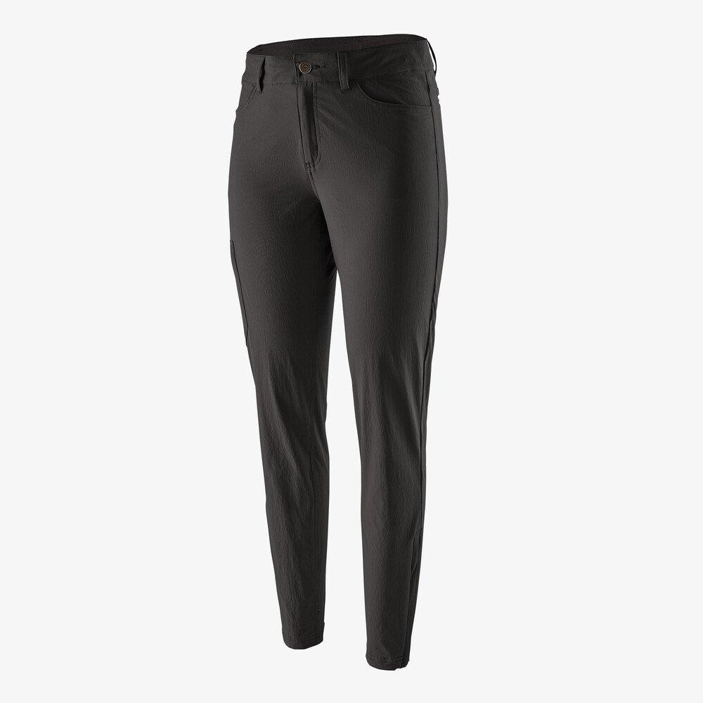 Patagonia Pant Women's Skyline Traveler SHORT Leg Trousers Black