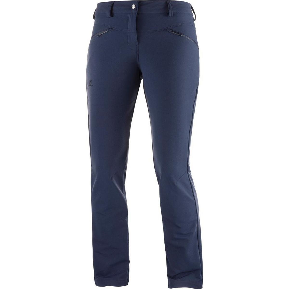 Salomon Pants Women's Wayfarer Straight Warm REGULAR Leg Trousers Night Sky