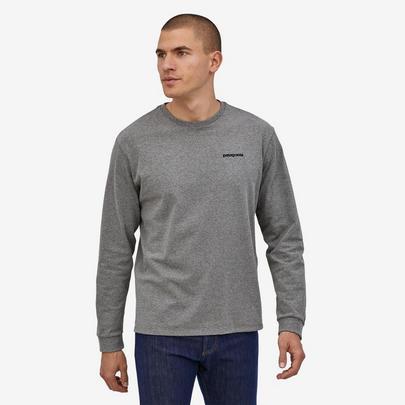 Patagonia Men's P6 L/S Logo Responsibili Tee - Grey