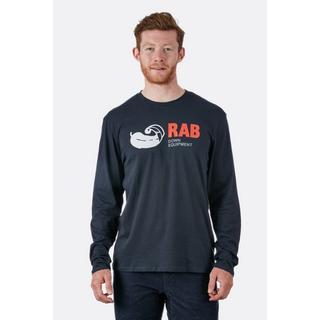 Men's Rab Stance Vintage LS Tee - Grey