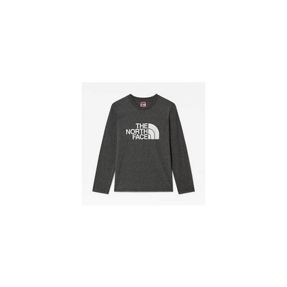 The North Face Youth Easy Long Sleeve T-Shirt - Medium Grey Heather