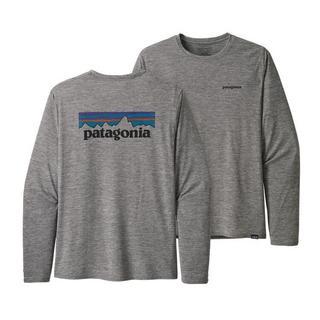 Men's Patagonia Cap Cool Graphic LS T-shirt - Grey