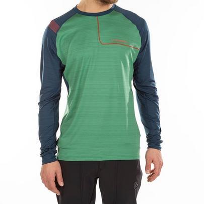 La Sportiva Men's Tour Long-Sleeved Tee - Grass Green Opal