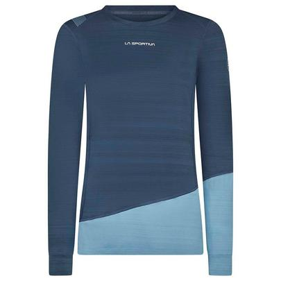 La Sportiva Women's Dash Long Sleeve Base Layer - Opal Pacific Blue