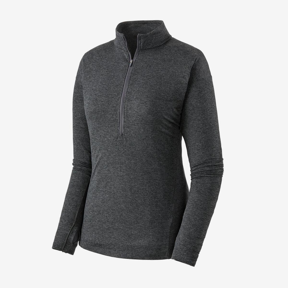Patagonia Women's Patagonia Seabrook LS Zip Neck T-shirt - Grey