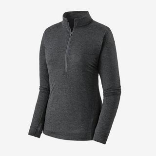 Women's Patagonia Seabrook LS Zip Neck T-shirt - Grey