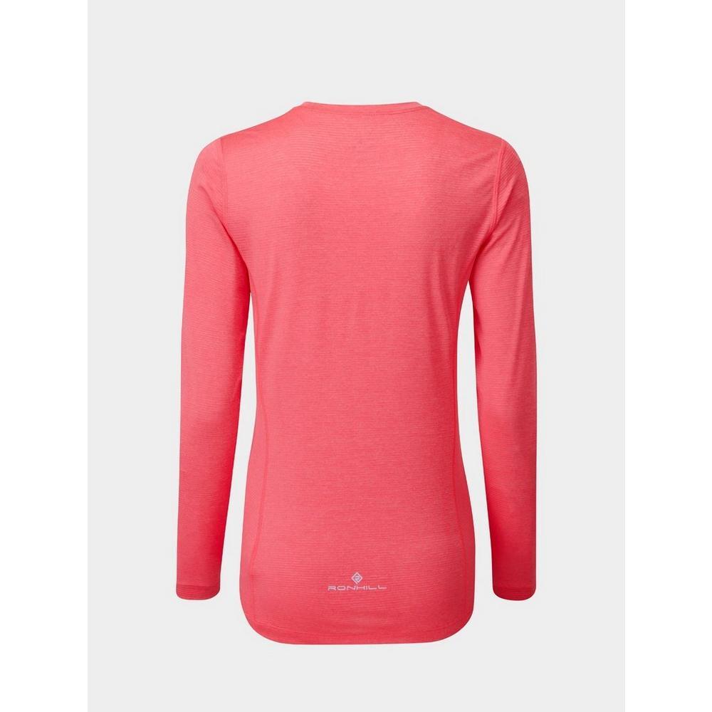 Ron Hill Women's Ron Hill Tech LS Tee - Pink