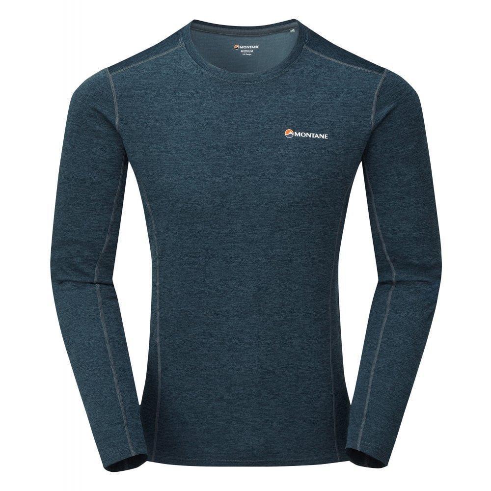 Montane Men's Montane Dart LS T-Shirt - Blue