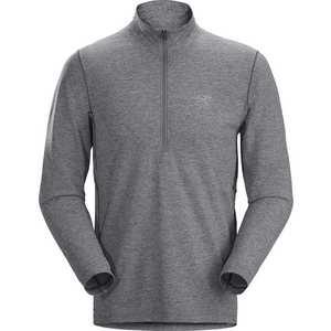 Men's Cormac Zip Neck LS - Grey