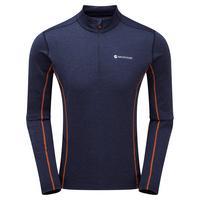 Men's Dart Zip Neck - Antarctic Blue