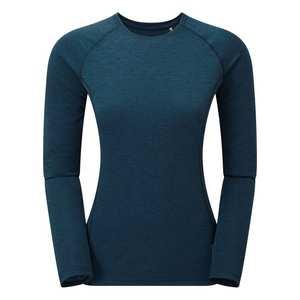 Women's Long Sleeved Dart T-Shirt - Narwhal Blue